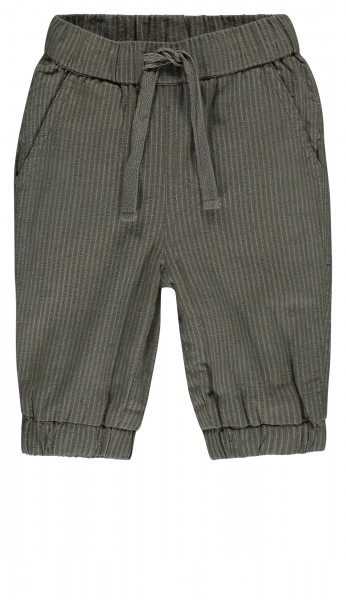 Broek Tea Green woven stripe