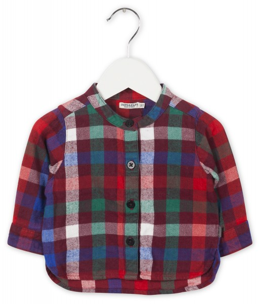 Blouse winter cranberry check
