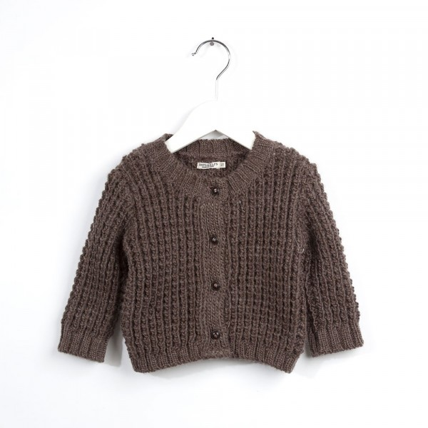 Vest dark wood melange