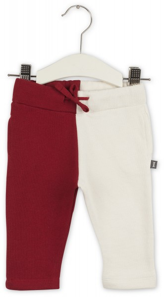 Joggingbroek red leaves/feather white