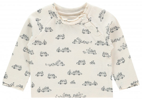 Longsleeve Appley Bridge Antique White AOP Cars