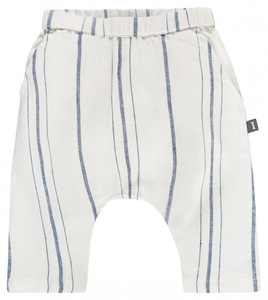Broek raw cotton / cornflower blue
